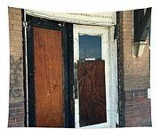 Former Waiting Room Doors Tapestry