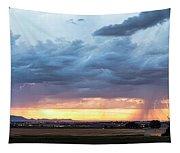 Fort Collins Colorado Sunset Lightning Storm Tapestry