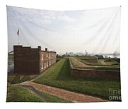 Fort Mchenry Earthworks And Barracks In Baltimore Maryland Tapestry