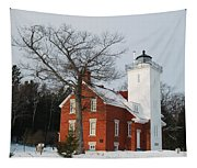 Forty Mile Point Lighthouse Tapestry