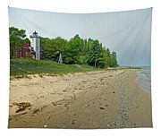 Forty Mile Point Lighthouse Springtime Tapestry