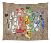 Found Items Rainbow Tapestry