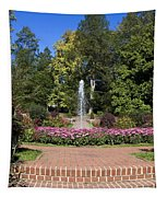 Fountain Among Flowers Tapestry