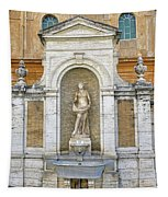 Fountain In The Vatican City  Tapestry