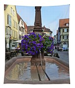 Fountain In Wertheim, Germany Tapestry