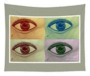 Four Eyes In Pop Art Tapestry