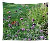 Four Monarch Butterflies Tapestry