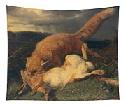 Fox And Hare Tapestry