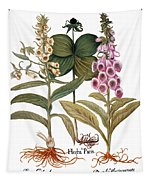 Foxglove And Herb Paris Tapestry