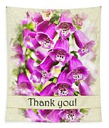 Foxglove Flowers Thank You Card Tapestry