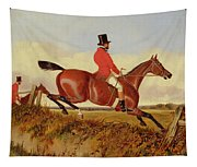 Foxhunting - Clearing A Bank Tapestry