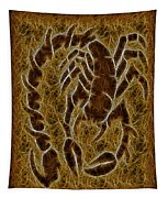 Fractal Abstract Scorpion Tapestry