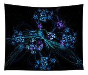 Fractal Forget Me Not Bouquet  Tapestry