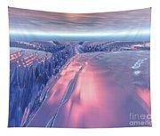 Fractal Glacier Landscape Tapestry