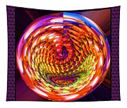 Framed Glass Spiral Tapestry