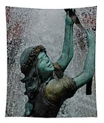 Frankenmuth Fountain Girl Tapestry