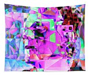 Frankenstein In Abstract Cubism 20170407 Square Tapestry