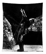 Frankensteins Monster Chained The Castle Played By Boris Karloff Tapestry