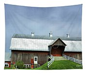 Franklin Barn By The Lake Tapestry