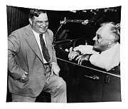 Franklin Roosevelt And Fiorello Laguardia In Hyde Park - 1938 Tapestry