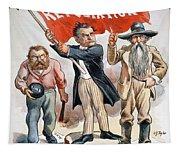 Free Silver Cartoon, 1896 Tapestry