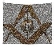 Freemason Coin Mosaic Tapestry