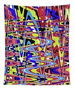 Freeway Of Colors Abstract Tapestry