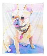 French Bulldog Watercolor Tapestry