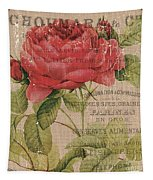 French Burlap Floral 1 Tapestry
