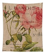 French Burlap Floral 2 Tapestry