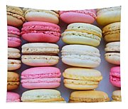 French Delicious Dessert Macaroons Tapestry
