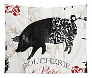 French Farm Sign Piglet Tapestry