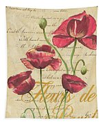 French Pink Poppies Tapestry by Debbie DeWitt