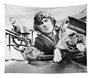 French World War Two Postcard Celebrating The British Bulldog As A Mascot For The Royal Air Force Tapestry