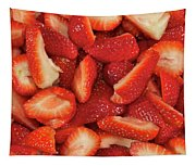 Fresh Cut Strawberries Tapestry