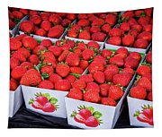 Fresh Picked Strawberries Tapestry