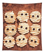 Frightened Mummy Baked Biscuits Tapestry