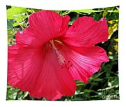 Frilly Red Hibiscus Tapestry