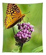 Fritillary Butterfly And Flower Tapestry