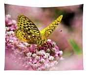 Fritillary Butterfly On Flowers Tapestry