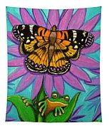Frog And Butterfly Tapestry