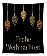Frohe Weihnachten German Merry Christmas Tapestry