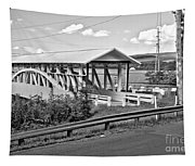 From Old To New In Bedford County Black And White Tapestry