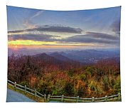 From The Top Of Brasstown Bald Tapestry