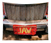 Front Of The Car - Grill And Plate Tapestry