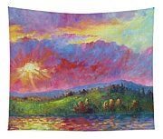 Front Range Sunset Tapestry