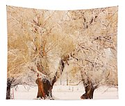 Frosted Golden Trees Tapestry