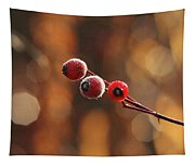 Frosted Rose Hips Tapestry