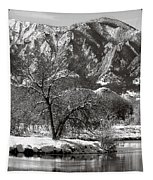 Frosty Flatirons 2 Tapestry