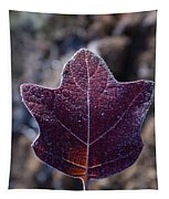 Frosty Lighted Leaf Tapestry